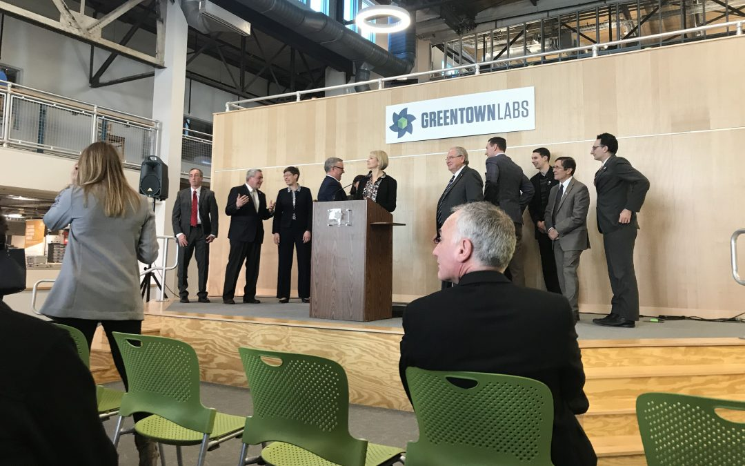 Greentown Labs receiving grant.